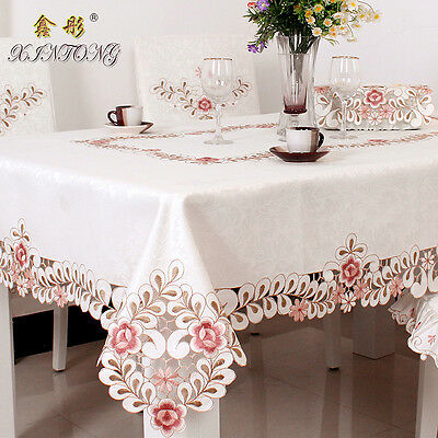 HBZ2 Hollow tablecloth table cover Embroidery Lace dining chair cushion napkin