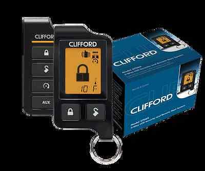 Clifford 5706 5706X 2-Way Car Alarm Remote Start Keyless System Lcd Pager 5706X
