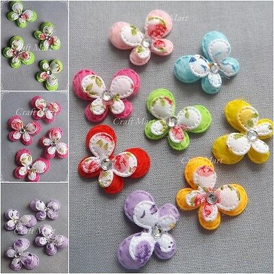 EMBELLISHMENTS padded butterflies flowers sewing cardmaking crafts decor
