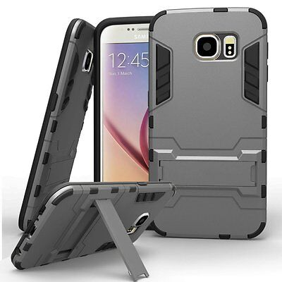 Hybrid Iron Man Armor Dual Layer Hard Rugged Case Stand Cover for Samsung iPhone