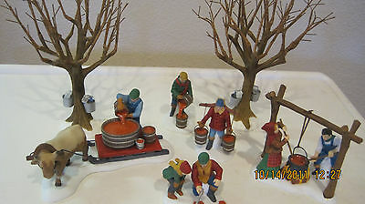 Dept 56 - New England Lot 3: Woodcutter - Tapping The Maples - Outhouse