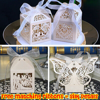 25/50/100 Luxury Wedding Favor Sweet Boxes | Table Decorations | MULTI Design