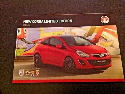 Vauxhall  New Corsa Limited Edition 2012 Models  Edition 1 .Sales Brochure