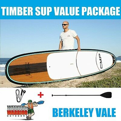 Stand Up Paddle Board PACKAGE CMP SUP 10' 10'6 11'4 with Paddle (Timber Aqua)