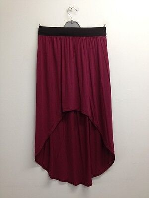 Tammy - Burgundy High Low Party Skirt Size UK 10-11 Years (O636)