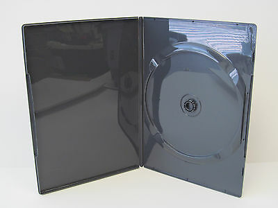 NEW! 25 Premium Scanavo Single Disc DVD Cases 7mm Slim Black - Holds 1 Disc