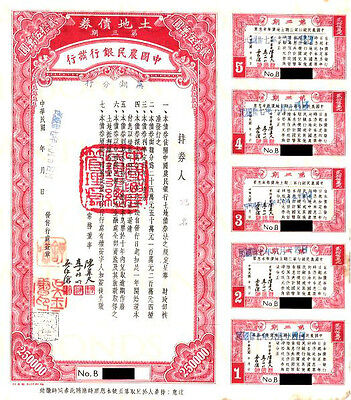 RARE HISTORIC 1933 FARMERS BANK CHINA $250,000 BOND w PASSCo! 500k ONLY $350,000