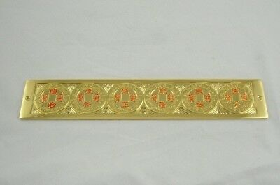 6 Golden Emperor Smooth Coins Feng Shui Ruler