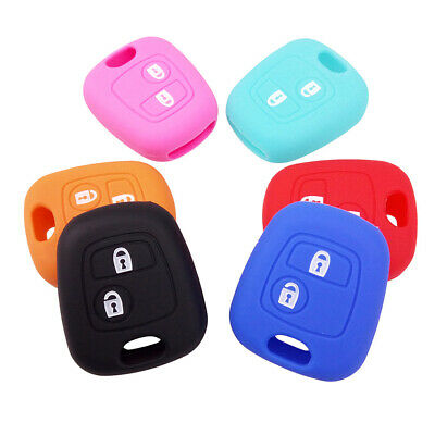 For Peugeot 107 307 207 407 607 306 405 Citroen C2 Silicone Key Remote Case Fob