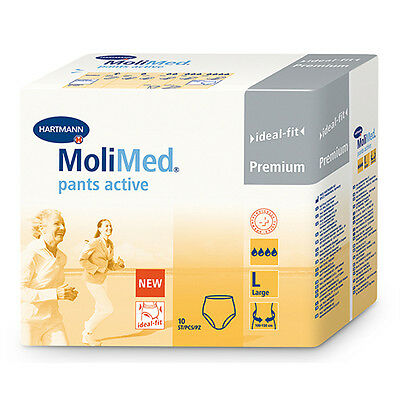 NEW Molicare Incontinence Aid Incontinence Pull Up Pants 10 PK L