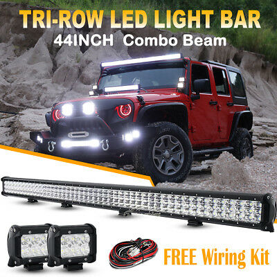 """2x 5inch 60W CREE LED Driving Work Light Spot Combo Round Offroad 4WD Pickup 7"""""""