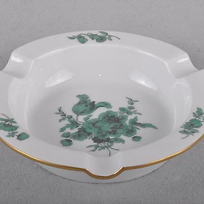 Meissen Ashtray Flowers Bouquet, copper green, First Quality