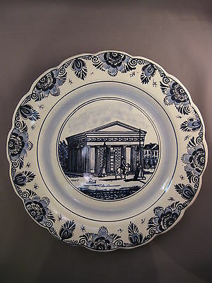 Wall plate blue Handpainted custom house Netherland 28cm - free shipping
