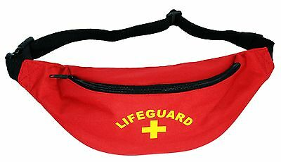 Lifeguard / Baywatch Fun Fancy Dress Accessory Bum Bag FREE POSTAGE /Life Guard