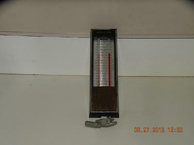"""vintage Airguide indoor / outdoor Thermometer Chicago USA 10"""" long"""