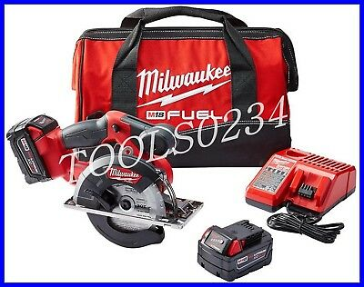 "Milwaukee 2782-22 M18 FUEL 18 Volt Brushless Lithium-Ion 5-3/8"" Metal Saw Kit"