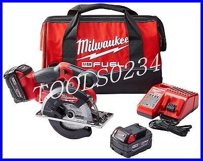 "New Milwaukee 2682-22 M18 Lithium-Ion 5-3/8"" Cordless Metal Circular Saw Kit"