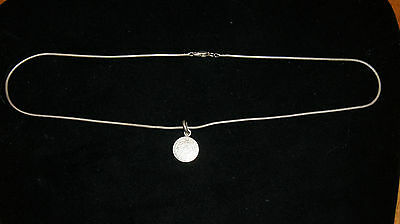 Vintage Mexican .925 Sterling Silver Mayan Sun Calendar Medallion Necklace