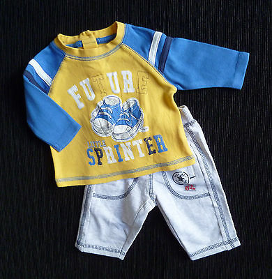 Baby clothes BOY newborn 0-1m George outfit sports top/grey jogging trousers