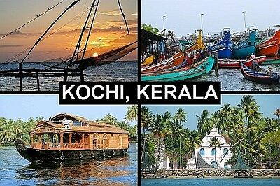 SOUVENIR FRIDGE MAGNET of KOCHI COCHIN KERALA INDIA
