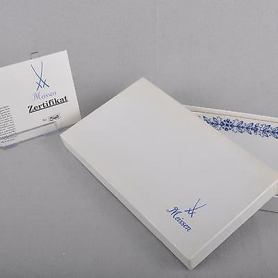 Meissen Tray / Tray in with certificate, First Quality, limited, cobalt blue