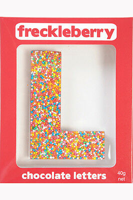 NEW Freckleberry Gifts Choc Freckle Letter L