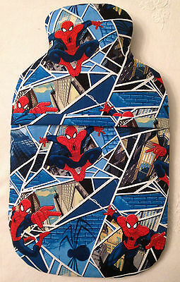 Spiderman ~ Hot Water Bottle Cover ~ With Or Without Bottle ~ Free Uk Postage