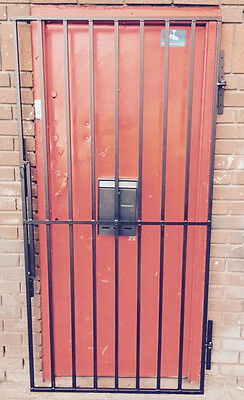 IRON METAL GARDEN SIDE GATE / HEAVY DUTY METAL SIZE :1000x2000/900x2000