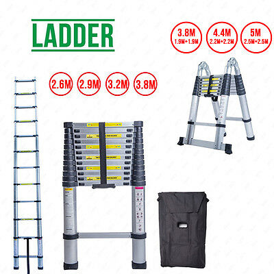 2.6M 2.9M 3.2M 3.8M 5.0M Aluminum Telescopic Ladder Multi Extension Extendable