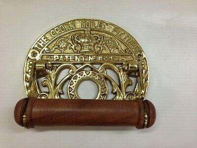 The Crown Toilet Roll Holder Polished Brass