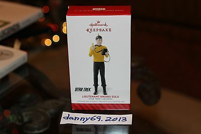 2014 HALLMARK KEEPSAKE ORNAMENT STAR TREK LIEUTENANT HIKARU SULU LEGENDS