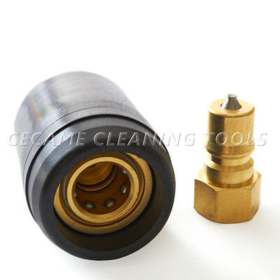 "Heat Shield Guard Carpet Cleaning Brass Quick Disconnect 1/4"" Wands Hose Valves"