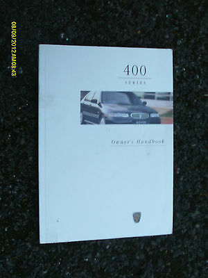 Rover 400 Series All Models 1995 - 2000 Owners Manual / Hand Book