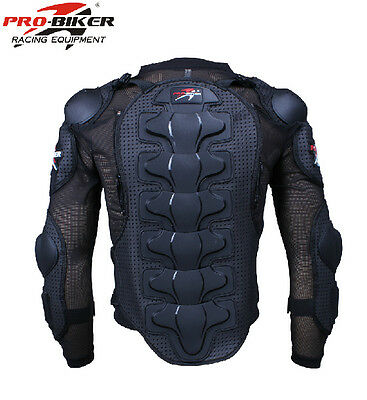 Motorcycle Bike Full Body Armor Jacket Spine Chest Back Protection Gear M-XXL