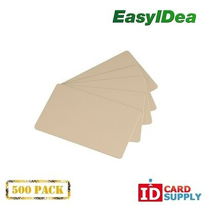 Pack of 500 Tan CR80 Standard Size PVC Cards | 30 mil Thickness by easyIDea