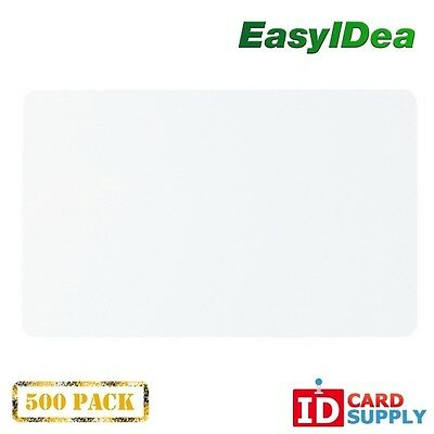 Pack of 500 Clear CR80 Standard Size PVC Cards | 30 mil Thickness by easyIDea