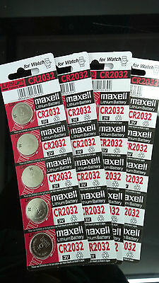 20 pieces Maxell CR2032 Button Coin Cell Lithium Battery 3V