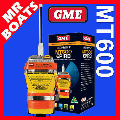 GME  MT600 EPIRB - 406MHz 10yr BATTERY / 6yr WARRANTY / FREE POSTAGE / MT 600