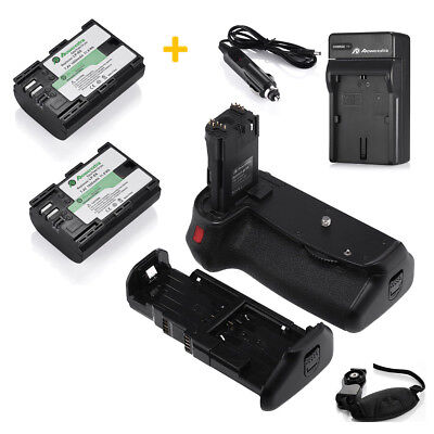 Battery Grip for Canon EOS 70D BG-E14 DSLR Camera + 2 LP-E6 Batteries + Charger