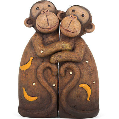 Cute Monkey Family Hugging Statue Ornament Monkeys