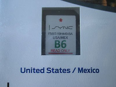 NEW B6 US-MEXICO SD CARD MAP UPDATE FORD Navigation FOCUS FUSION EDGE F150 SYNC
