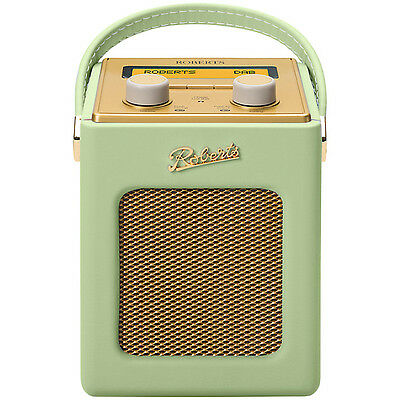 Roberts Revival Mini Leaf Green Portable DAB FM RDS Digital Radio Retro