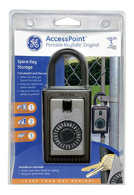 GE Access Point Portable 3-Digit Combination Steel Padlock Key Safe 001005 Kidde