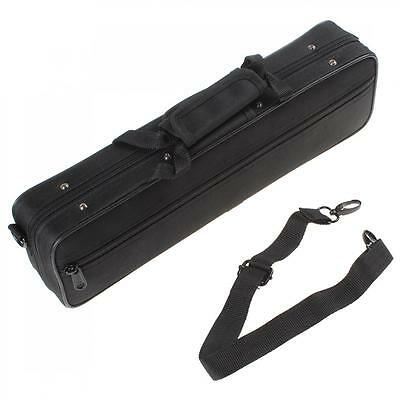 Black Nylon FLUTE CASE COVER - CARRYING BAG Handle and Shoulder Strap