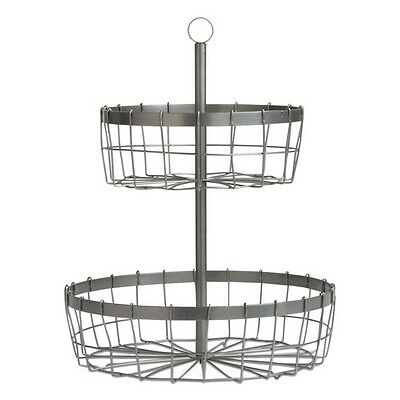 Tag Two Tier Wire Basket