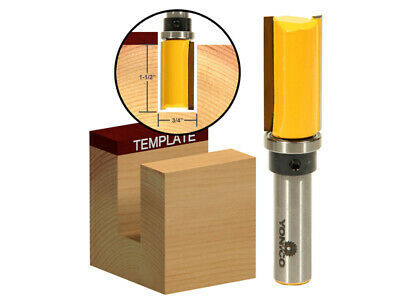 "3/4"" Diameter Flush Trim Template Router Bit - 1/2"" Shank - Yonico 14137"