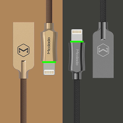 Mcdodo Smart LED Auto Disconnect Lightning Data USB Charging Cable iPhone 7 6S 5