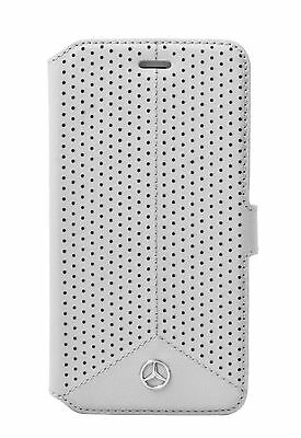 Genuine Mercedes-Benz Pure Line Perforated Leather Book iPhone 6 Plus & 6s Plus