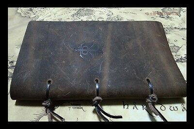 Rare vintage The Hobbit middle earth notebook journal diary Leather cover gift