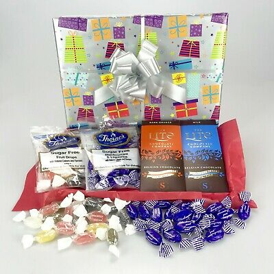 Sugar Free Sweets Chocolate Deluxe Hamper Birthday Diabetic No Added Fathers Day